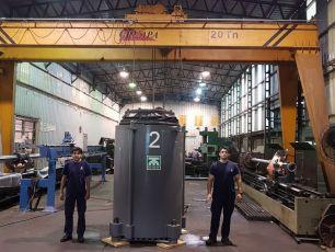 Nuevamente entregamos reparado un Cilindro Hidráulico de torreta para TerniumSiderar
